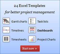 Project Management Excel dashboard