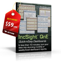 IncSight® DB: Excel Dashboard Templates Linked to an Excel Database