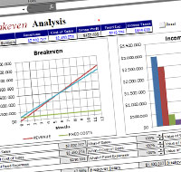 Excel Break Even Template  Break Even Excel Template