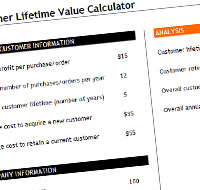 Excel Customer Lifetime Value Template