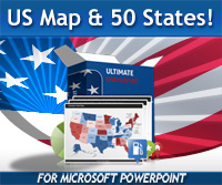 Editable Powerpoint Ultimate Us Map Template Kit