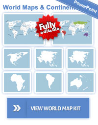 Editable Powerpoint Ultimate World Map Template Kit